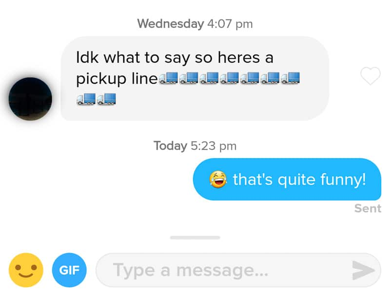 16 Innovative Pick-Up Lines On Tinder That May Or May Not Score You